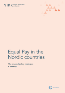 Cover for Equal Pay in the Nordic Countries - a summary
